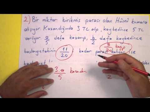 Kesir Problemleri Soru çözümü - şenol Hoca Şenol Hoca Matematik