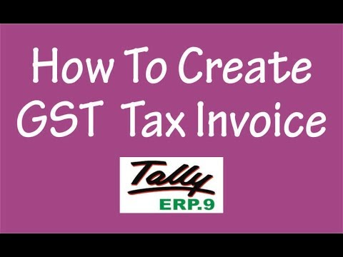 how to create a tax invoice