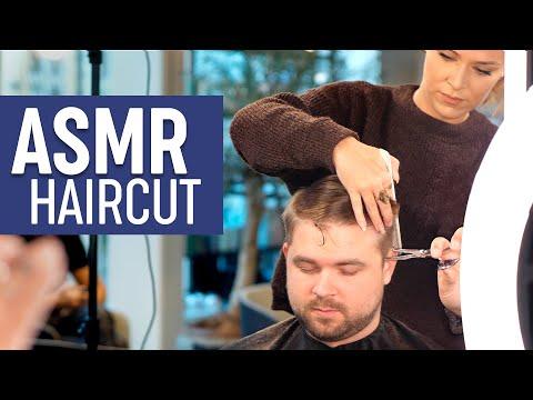 ASMR Relaxing Haircut - Professional Scissor Cut - Sleep Inducing