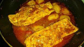 ডিমের ওমলেট ডালনা   Easy Egg Omelette Curry in Bengali Style   Egg Omelette Dalna Recipe with Potato