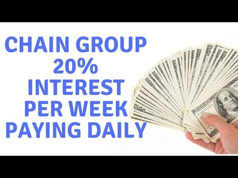 Chain group paying 20% a week in interest