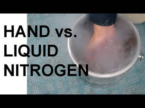 Thumbnail: Hand vs. Liquid Nitrogen and the Leidenfrost Effect