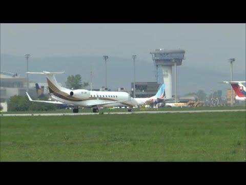 [HD] EMB-135BJ Legacy 600 takeoff at Bratislava Airport (M. R. Stefanik) - 02/05/2015