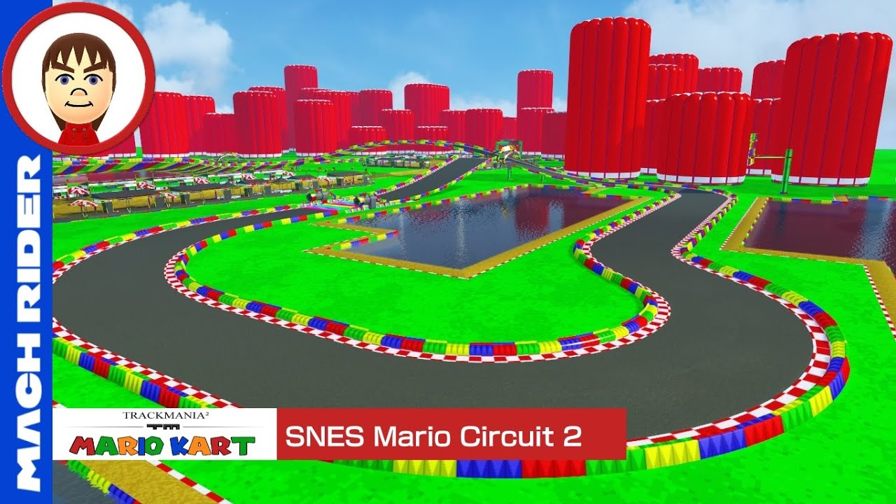 mario kart trackmania snes mario circuit 2 youtube. Black Bedroom Furniture Sets. Home Design Ideas