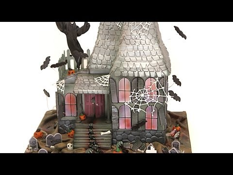 Pictures of haunted house cakes