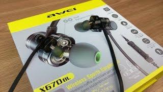 НОВИНКА! Круті блютуз навушники AWEI X670BL Огляд.