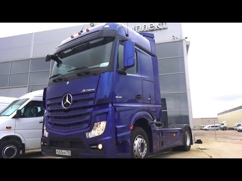 2016 Mercedes-Benz Actros 1845 LS. Start Up, Engine, and In Depth Tour.