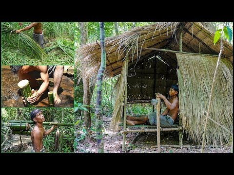 Real life in the forest with primitive technology - full video - 02
