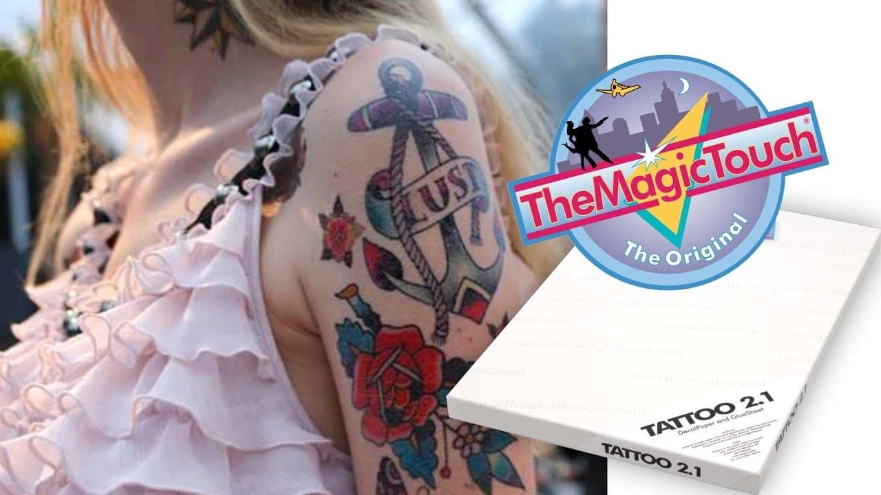 Jak Stworzyć Tatuaż Usuwalny Używając Papieru Transferowego Themagictouch Tattoo 21