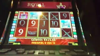 30 Freispiele Royal Treasures 10€ Fach Spielbank Stuttgart