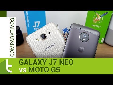 Samsung Galaxy J7 Neo vs Motorola Moto G5  | Comparativo do TudoCelular
