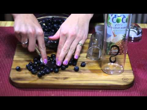 Reduce Sweet Cravings with Coconut & Blueberry Water - Easy DIY Recipe