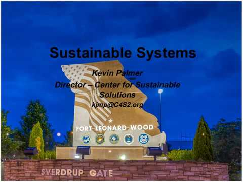 Sustainability at Fort Leonard Wood and Surrounding Communities
