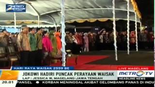 Pidato Jokowi Di Perayaan Waisak di Candi Borobudur - 2 Juni 2015