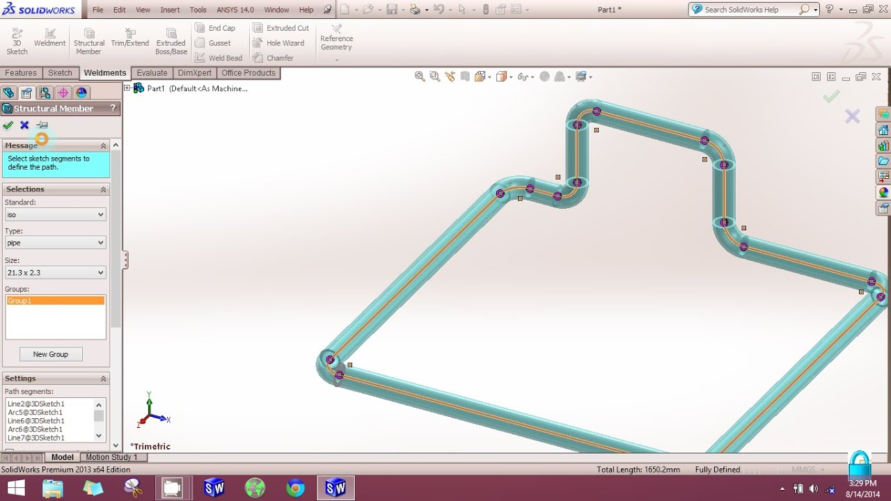Solidworks how to create bent pipe in solidworks using for Design table not working solidworks