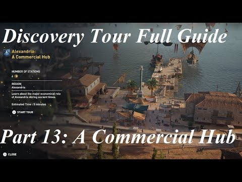 Assassin's Creed Origins: Discovery Tour | Part 13 Alexandria A Commercial Hub - HD