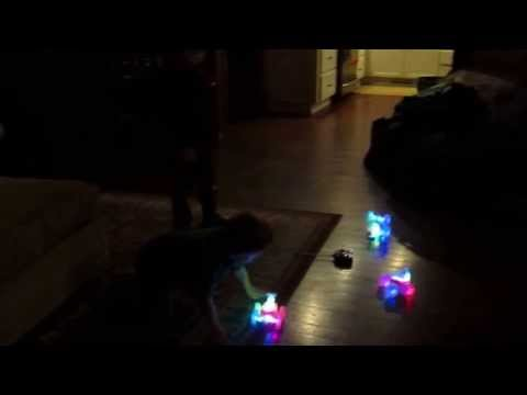 Christmas Eve - Playing with Remote Control Cars  -  Clip 8  -  Tuesday December 24, 2013