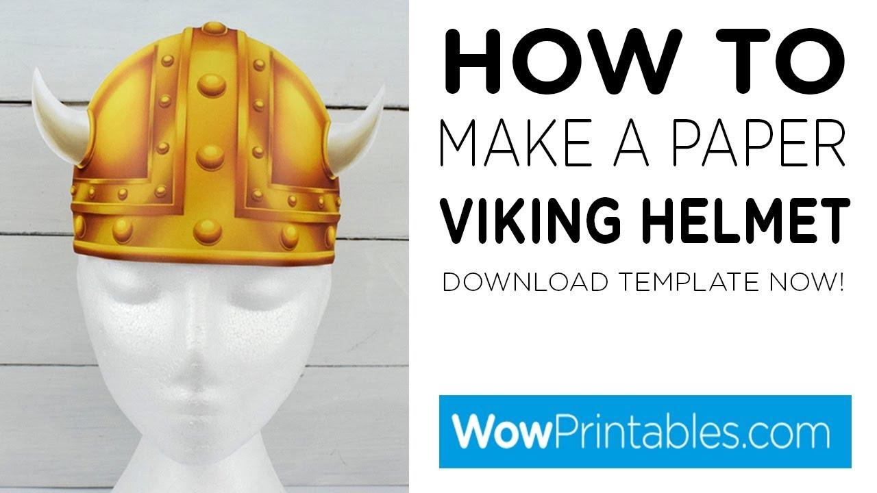 Viking Helmet Template