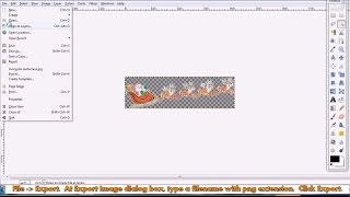 How to make the picture background  transparent and save as png file using free software Gimp
