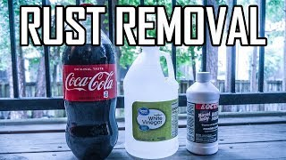 What Is The Best OR Worst Rust Remover?  (Coca Cola, White Vinegar, or Loctite)