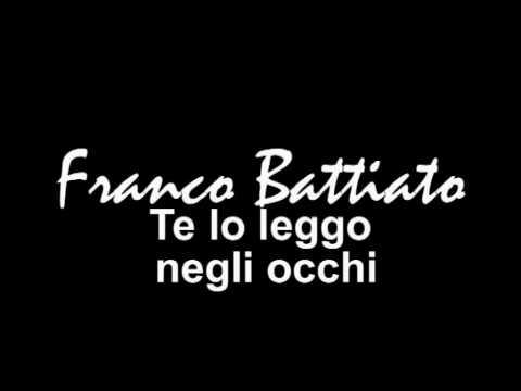 Franco Battiato Te Lo Leggo Negli Occhi Cover By Tek Youtube