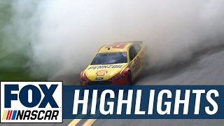Repeat youtube video Joey Logano Wins his 1st Clash | The Clash 2017