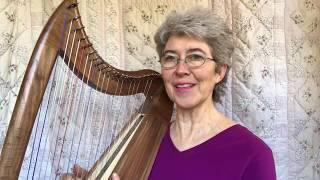 vuclip Double Strung Harp 105.  ENA lap harp (strung F-F): Demo