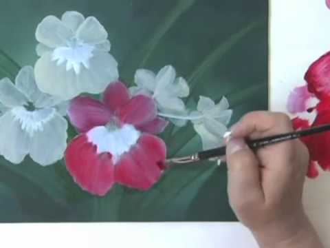 How to Paint a Flower with Acrylics Step by Step