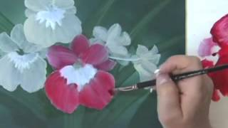 Acrylic Painting Techniques - How to Paint Flowers - Orchids