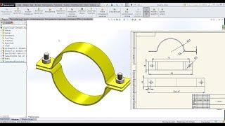 👌 Урок SolidWorks №11. Листовая деталь. Сборка. Чертеж. Печать.