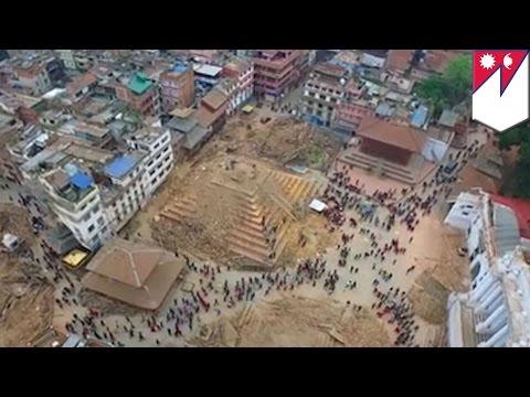 Katmandu po trzęsieniu ziemii: nagranie z drona