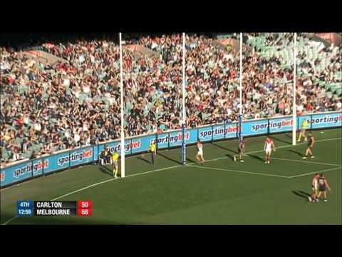 AFL 2014 Round 4   Carlton v Melbourne 4th Quarter