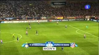 Afición del Atlético de Madrid en la Supercopa de Europa