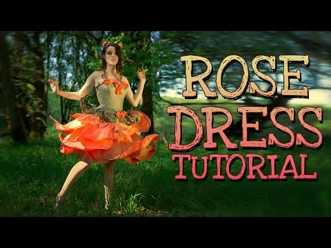 Rose Fairy Dress Costume Tutorial | How to make a fairy flower gown costume