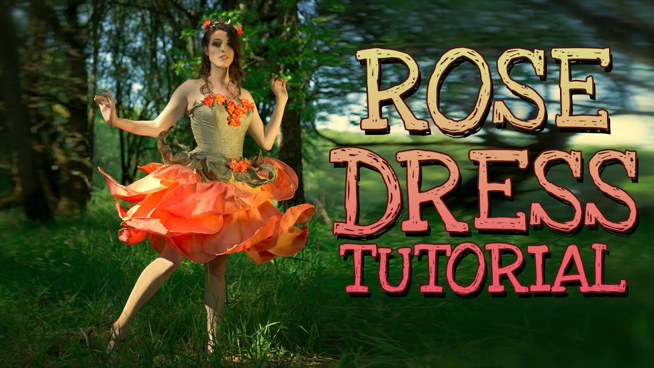 Rose Fairy Dress Costume Tutorial | How to make a fairy flower gown costume - YouTube & Rose Fairy Dress Costume Tutorial | How to make a fairy flower gown ...