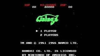 Galaga (1981, NES) gameplay