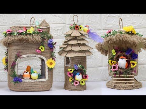 5 Jute craft bird nest | Home decoration ideas handmade | Ju