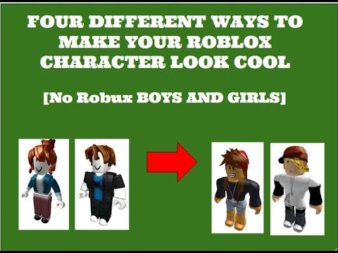 How To Make Your Roblox Character Look Good No Robux Youtube