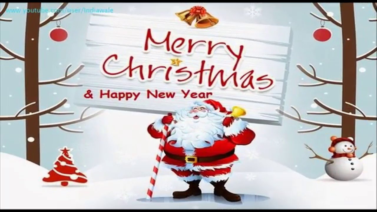 Merry Christmas Happy New Year 2016 Greetings Wishes E Card