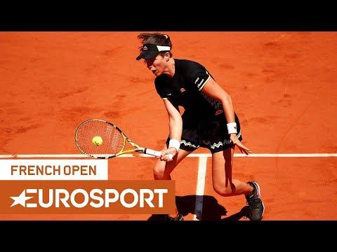 Johanna Konta vs Donna Vekic Highlights   Roland Garros 2019 Round 4   Eurosport