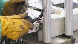 Welding A Hitch Mounted  Surf Fishing Rod Rack With Kenny Pt 3