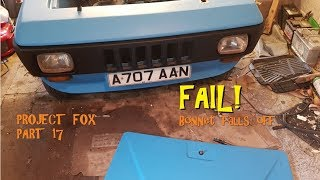 Project Fox Part 17: FAIL! Bonnet falls off. Also, wiring