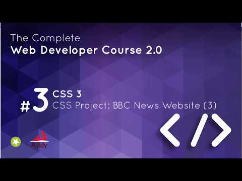 CSS 3 Lesson 18    CSS Project BBC News Website 3