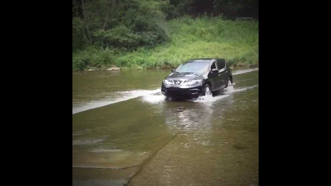 Image result for car crossing creek trexler