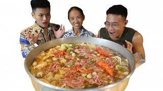 Bà Tân Vlog - Làm Nồi Lẩu Kim Chi Siêu Cay Khổng Lồ Sẽ NTN