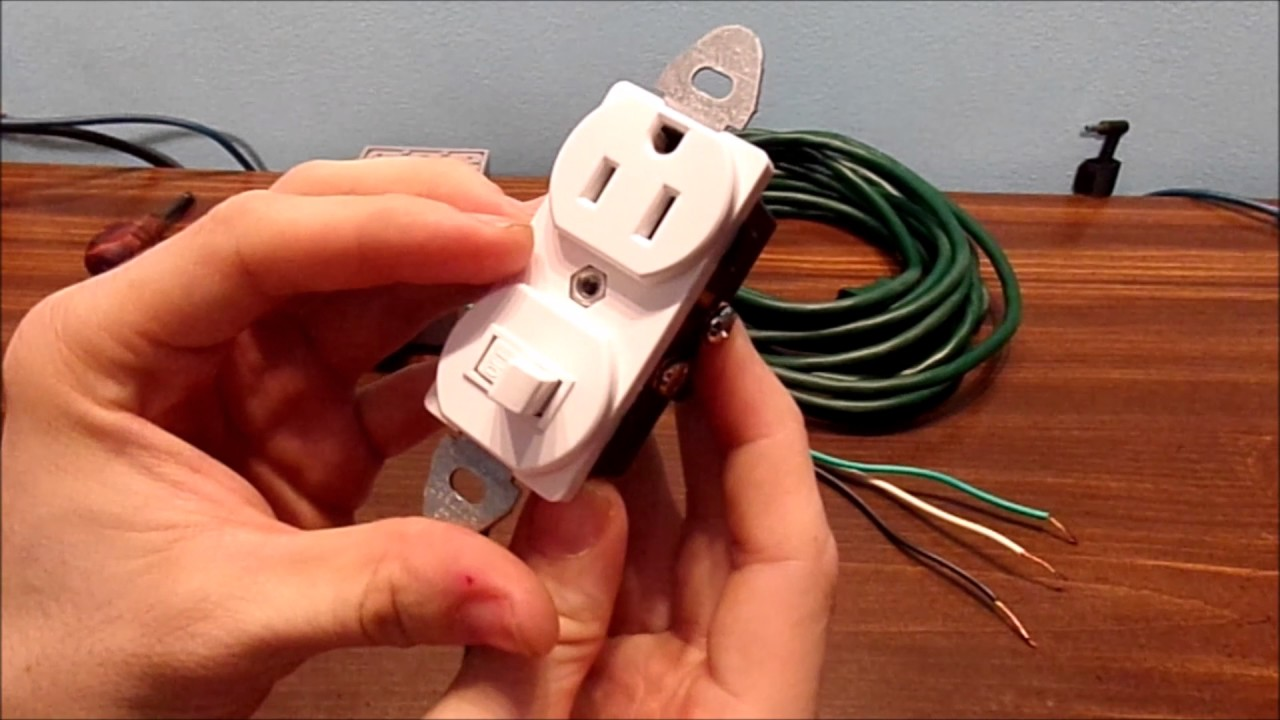 maxresdefault how to wire a switched outlet combo youtube leviton 5625 wiring diagram at soozxer.org