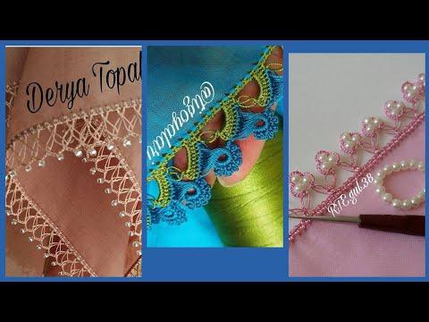 iğne oyasi/ needlework scarfs and stalers styles and ideas