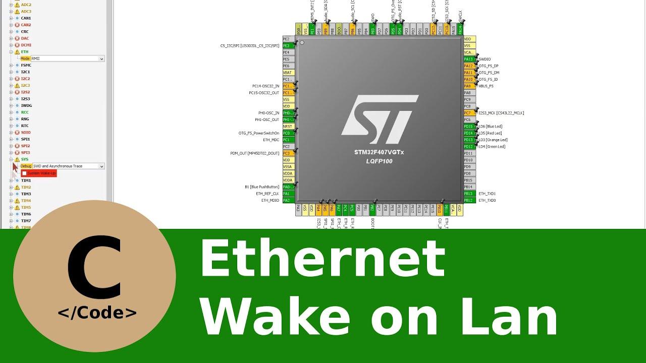 0x03 Ethernet Wake On Lan Tutorial mit dem STM32F4 Discovery, CubeMX und  der CooCox IDE