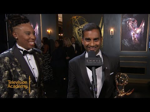 69th Emmys Thank You Cam: Aziz Ansari and Lena Waithe From Master Of None