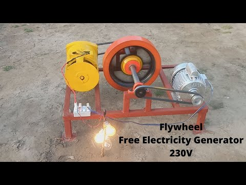 Flywheel Free Electricity Generator 230V 100% Free Energy Generator New Technology Ideas
